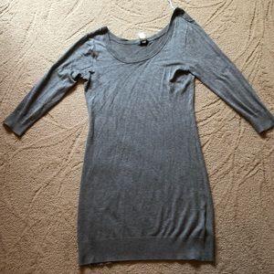 Women's H&M Large Sweater Dress Grey